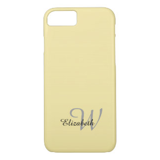 CHIC iPhone 7 CASE_BLACK/GRAY TEXT ON YELLOW iPhone 7 Case