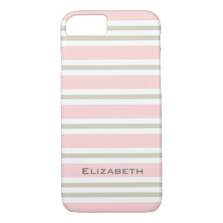 CHIC iPhone 7 CASE_PINK/PINK/WHITE STRIPES #3 iPhone 8/7 Case