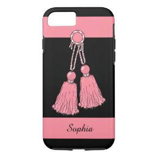 CHIC iPhone 7 CASE_PINK TASSELS/STRIPES iPhone 7 Case
