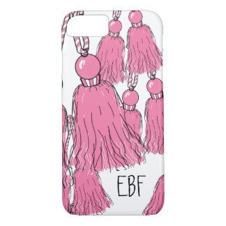 CHIC IPHONE CASE_GIRLY MINT TASSLES iPhone 7 CASE