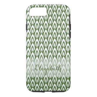 CHIC IPHONE CASE_MODERN FLAME_WHITE ON GREEN iPhone 7 CASE