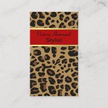 Chic Jaguar Print Business Card