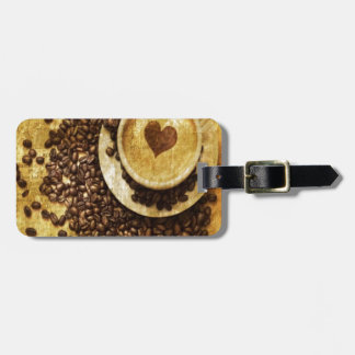 Chic Java cappuccino Coffee Beans Coffee Lover Bag Tag