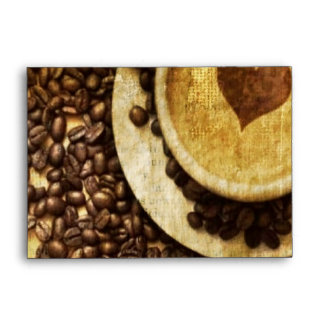 Chic Java cappuccino Coffee Beans Coffee Lover Envelope