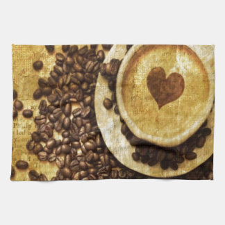 Chic Java cappuccino Coffee Beans Coffee Lover Hand Towel