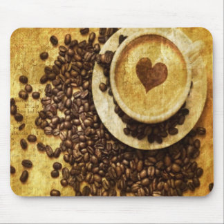 Chic Java cappuccino Coffee Beans Coffee Lover Mouse Pad