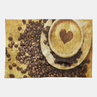 Chic Java cappuccino Coffee Beans Coffee Lover Towel