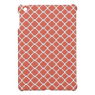 Chic Jelly Bean Orange Quatrefoil Maroccan Pattern Case For The iPad Mini