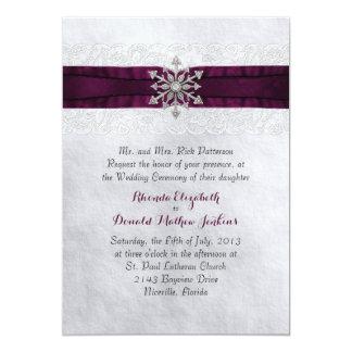 Chic Jeweled Snowflake Wedding Invitation