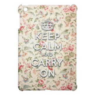 Chic keep calm and carry on iPad mini cover