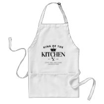 Chic King of the Kitchen Crown Foodie Dad For Men Adult Apron