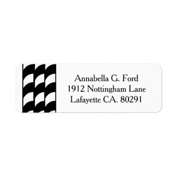 Professional Business CHIC LABEL_07 BLACK/WHITE STRIPES LABEL