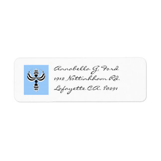 CHIC LABEL_UPTOWN GIRL  153 BLUE/BLACK/WHITE RETURN ADDRESS LABEL