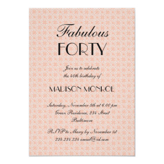 Chic Lace Coral Fabulous Forty Card