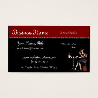 Chic Lady at the Cafe Business Cards