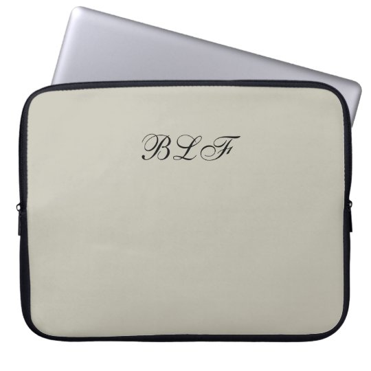 CHIC LAPTOP SLEEVE-SOLID 154 NATURAL COMPUTER SLEEVE