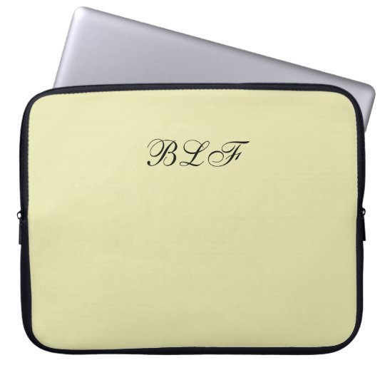 CHIC LAPTOP SLEEVE-SOLID 221 SOFT YELLOW COMPUTER SLEEVE