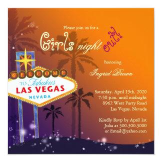 Chic Las Vegas Bachelorette Party Invitation