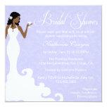 """Chic Lavender Wine Damask Bridal Shower Invitation 5.25"""" Square Invitation Card"""