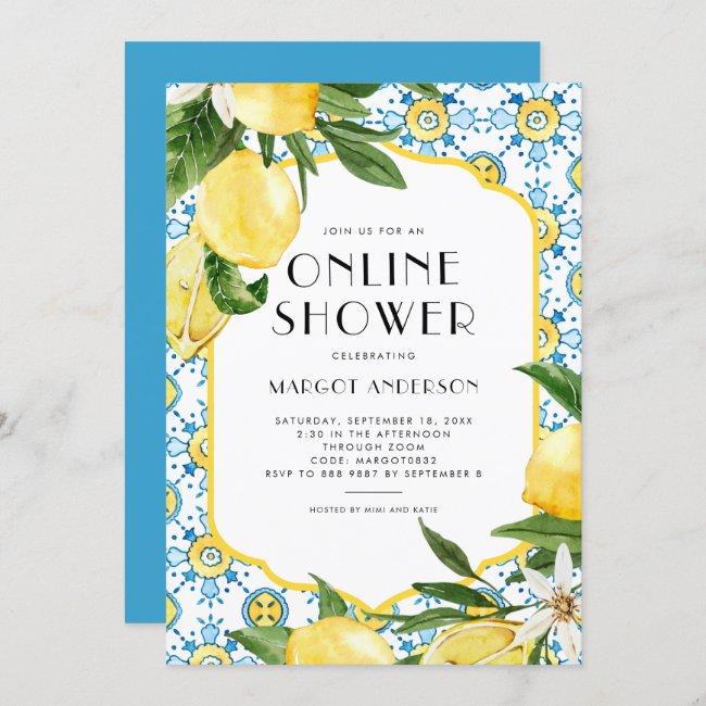 Chic Lemon Mediterranean Summer Online Shower Invitation