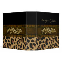 Chic Leopard Print Avery Binder