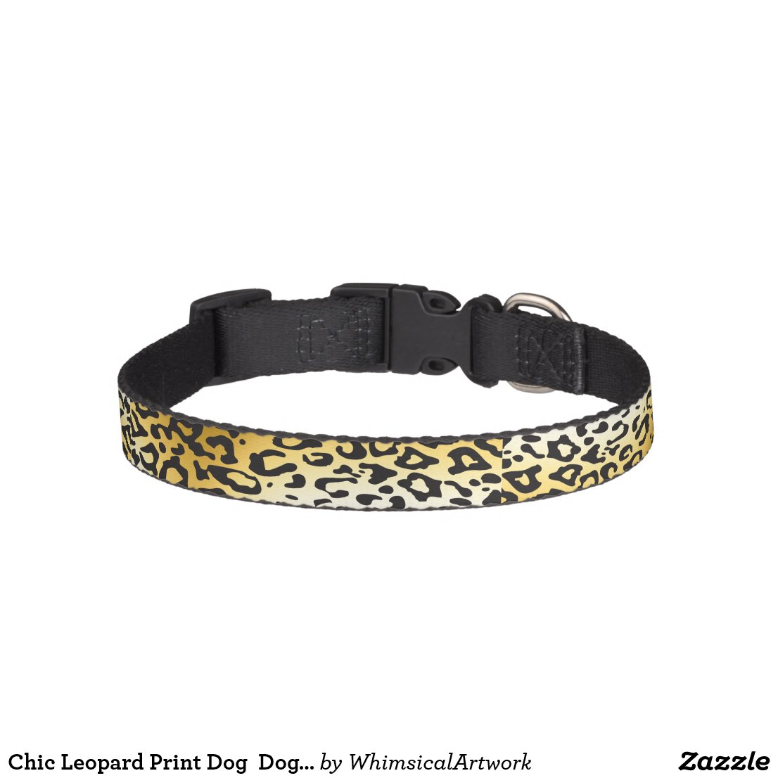 Chic Leopard Print Dog Dog Collar