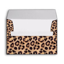 Chic Leopard Print Elegant Animal Envelope