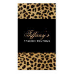 Chic Leopard Print Fashion Double-Sided Standard Business Cards (Pack Of 100)