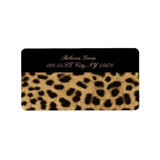 Chic Leopard Print Fashion Custom Address Labels