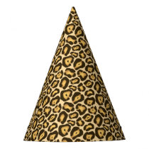 Chic Leopard Print Party Hats