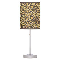 chic leopard print table lamp