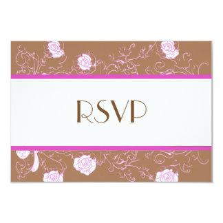 Chic Lesbian Gay Wedding RSVP Two Brides Card