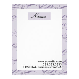 chic letterheads personalized letterhead