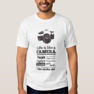 Chic Life is like a camera quote, Black Grunge T-shirts