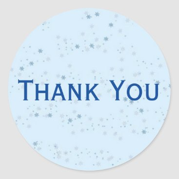 Professional Business Chic Light Blue Speckled Thank You Sticker