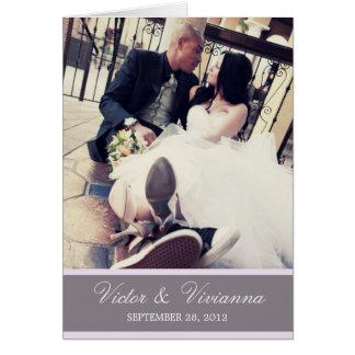 CHIC LILAC GRATITUDE | FOLDED WEDDING THANK YOU GREETING CARD