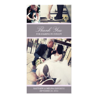 CHIC LILAC GRATITUDE | WEDDING THANK YOU CARD PHOTO CARD