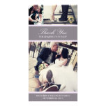 CHIC LILAC GRATITUDE | WEDDING THANK YOU CARD PICTURE CARD