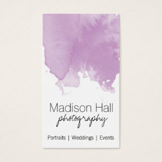 Chic Lilac Watercolor Business Card