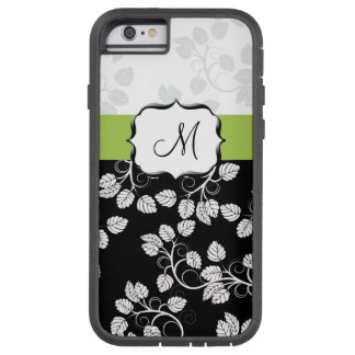 chic lime and black monogram design tough xtreme iPhone 6 case