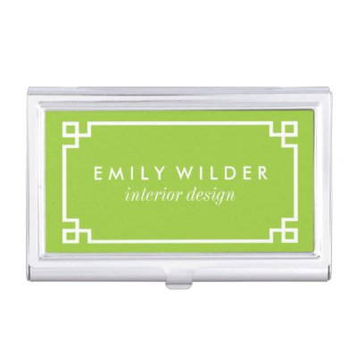 Lime green business card holder zazzle reheart Gallery