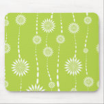 "Chic Lime Green Floral Computer Mouse Mouse Pad<br><div class=""desc"">Our Chic,  trendy,  &amp; stylish lime green &amp; white floral pattern girly computer mouse pad will look beautiful on your desk and is a perfect gift!</div>"