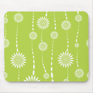 Chic Lime Green Floral Computer Mouse Mouse Pad