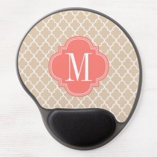 Chic Linen Moroccan Lattice Personalized Gel Mouse Pad