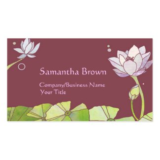Chic Lotus Massage Therapy Business Cards