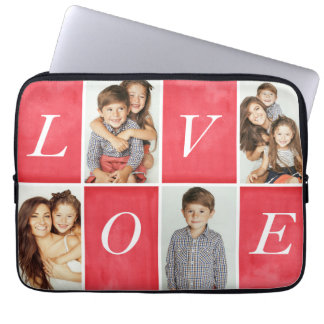 Chic Love 4 Photo Collage Laptop Sleeve