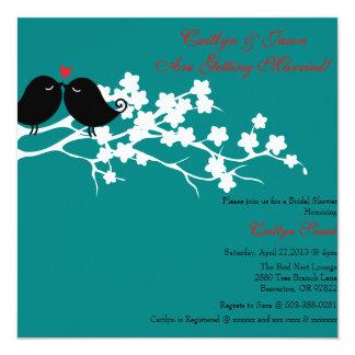 Chic Love Birds Bridal Shower Invitation