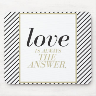 Chic Love Quote Mouse Pad