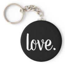 chic LOVE. script Keychain