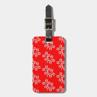 CHIC LUGGAGE/ 01 RED/WHITE/BLACK FLORAL LUGGAGE TAGS